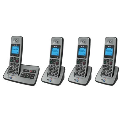 BT 2500 Cordless Quad Phone with Answer Machine - Silver
