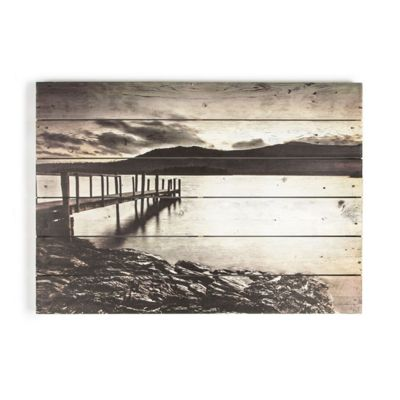 Art for Home Tranquil Jetty Print on Wood