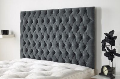 Windermere Headboard in Kimiyo Linen - Granite - (3ft)