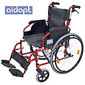 Aidapt Deluxe Lightweight Self Propelled Aluminium Wheelchair in Red