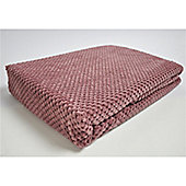 Mason Grey Chenille Spot Blush Throw - 180x125cm