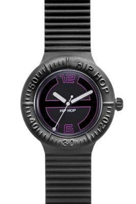 Hip Hop Unisex Large Black Tie Strap Watch HWU0115