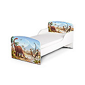 PriceRightHome Jurassic Dinosaurs Toddler Bed & Fully Sprung Mattress