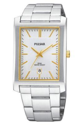 Pulsar Gents 2 Tone Bracelet Watch PXDB33X1