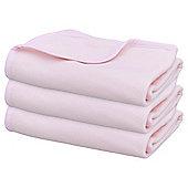 Fleece 3pk Pink Moses Blankets