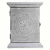 Wall-mountable Dark Grey Wooden Key Box Storage Cupboard