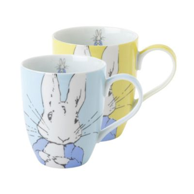 Stow Green Contemporary Peter Rabbit Set of 2 Mugs
