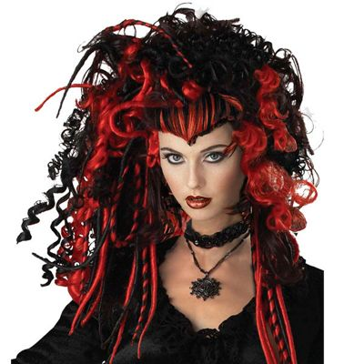 Palmers - Witch Wig - Red & Black