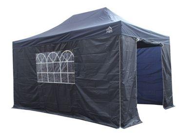 All Seasons Gazebos, Heavy Duty, Fully Waterproof, 3m x 4.5m Standard Pop up Gazebo Package in Navy Blue