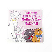 Disney Aristocats Personalised Mother's Day Coaster