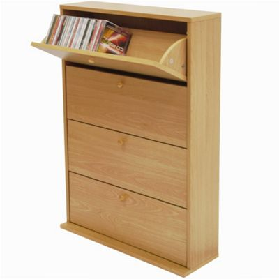 Cd 200 - Media Storage Cupboard - Beech