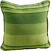 Homescapes Cotton Morocco Striped Green Prefilled Cushion, 45 x 45 cm