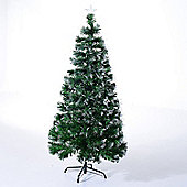 Homcom 5ft Optical Fiber Artificial Christmas Tree Colorful LED (5ft 150cm)
