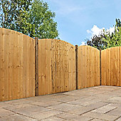Mercia Curved Feather Edge Fence Panel 6ft Dipped