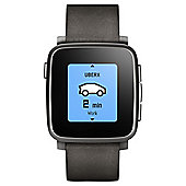 Pebble Steel Smartwatch, Black