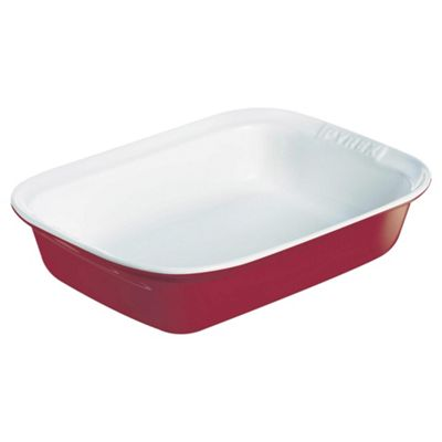 Pyrex Impressions Red Ceramic 35x23cm Roasting Dish