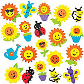 Sunflower Stickers for Children to Decorate and Personalise Crafts & Spring/Summer Cards - Scrapbooking Embellishment for Kids (Pack of 120)