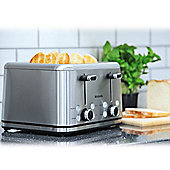 Brabantia BBEK1031 4 Slice Toaster - Brushed Stainless Steel