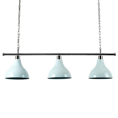 MiniSun Gulliver 3 Way LED Ceiling Light with Retro Shades - 3000K - Duck Egg Blue
