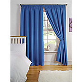 Hamilton McBride Thermal Backed Pencil Pleat Curtains - Blue