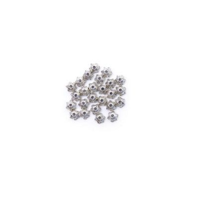 Craft Factory Metal Casting Beads pk25 7mm Silver