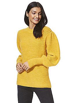F&F Mutton Sleeve Jumper - Yellow