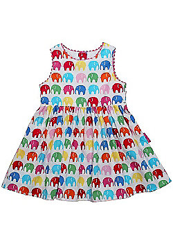 Toby Tiger Cotton Party Dress (Multi Elly) - Multi