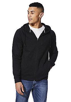 F&F Zip Pocket Zip-Through Hoodie - Black