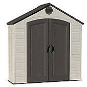 8 x 2.5 Life Plus Plastic Apex Shed with Plastic Floor (2.43m x 0.76m) 8ft x 2.5ft