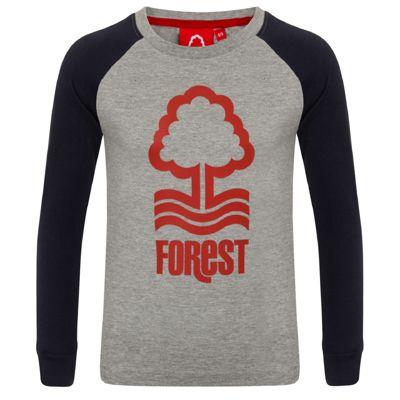 Nottingham Forest FC Kids Long Sleeve T-Shirt Grey 6-7 Years