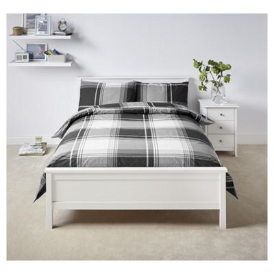 Tesco Black Oversized Check Duvet Set King