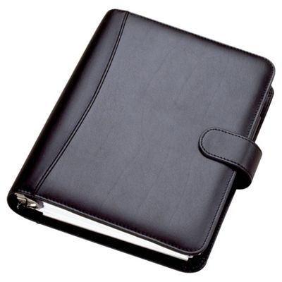 Collins Chatsworth A5 Desk Organiser, Leather Effect,Black