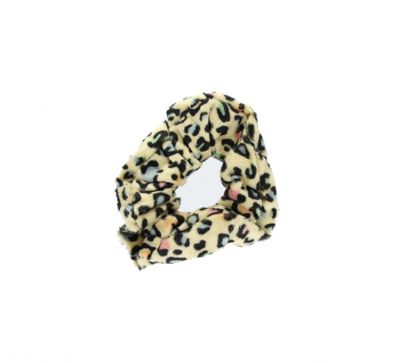 Velvet Animal Print Leopard Camel Hair Scrunchie