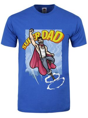 Superdad To The Rescue Blue Men's T-shirt