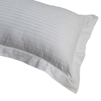 Homescapes White Egyptian Cotton Satin Stripe Oxford Pillowcase 330 TC, King Size Pillow Cover