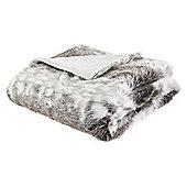 Tesco Grey Faux Fur Throw