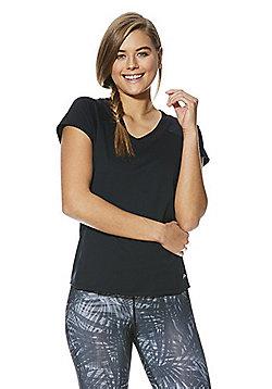 F&F Active Mesh Insert T-Shirt - Black