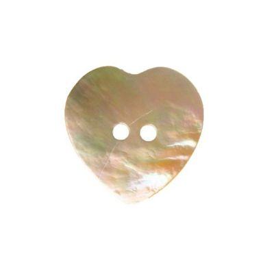 Hemline Ivory Heart Buttons 17.5mm 5pk