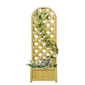 Bentley Garden Wooden Straight Lattice Planter