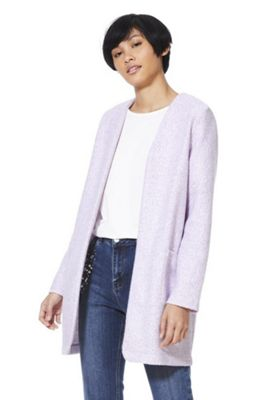 F&F Collarless Boucle Jacket Lilac 10