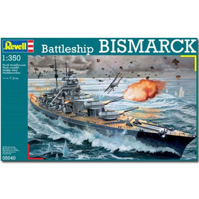 Revell Battleship Bismarck 1:350 Model Kit Ships - 05040