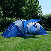 Trail Hartland 4-Man Tunnel Tent With Awning - Blue