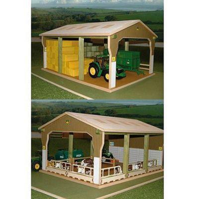 Brushwood Bt6000 Big Bale Shed - 1:32 Farm Toys