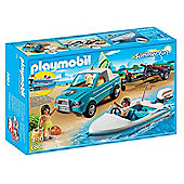 Playmobil 6864 Surfer Pickup with Speedboat Playset