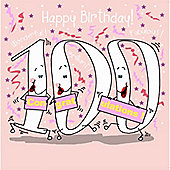 Happy Birthday, 100 Today Female Greetings Card