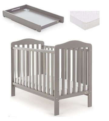 Obaby Ludlow Cot/Mattress/Cot Top Changer - Taupe Grey