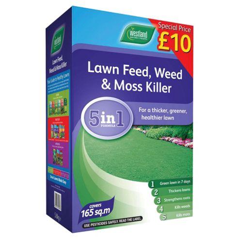 Westland Lawn Feed Weed Moss Killer Box 165m2