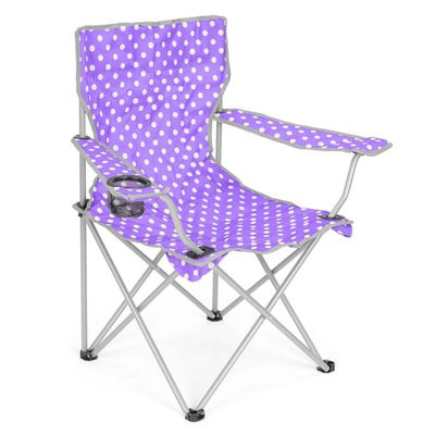 Trail Polka Dot Folding Festival Chair - Purple