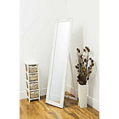 Large White Antique Design Dress Cheval Mirror 5Ft3 X 1Ft4 160cm X 40cm