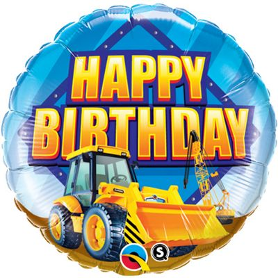 Birthday Construction Zone Balloon - 18 inch Foil
